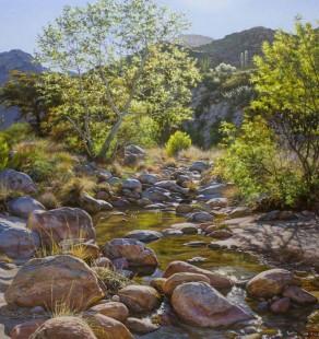 Spring Sycamore, 30×40 ($6100, Sanders Gallery)