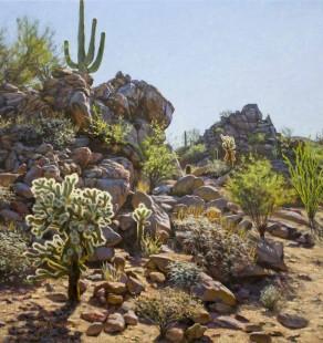 Desert Hilltop, 24×24 (sold)
