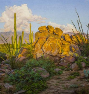 Late Light on Lemming Rock, 24×30 (sold)